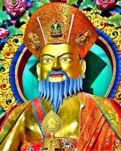 A statue of Zhabdrung Ngawang Namgyel